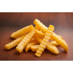 CRINKLE CUT FRIES (1KGX10PKT)