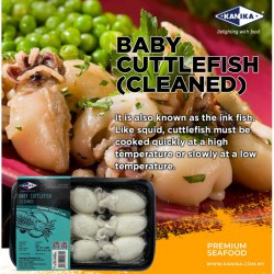 KANIKA WHOLE CLEANED BABY CUTTLEFISH 20/40 (250G X 30TRAY)