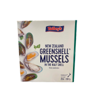 NZ TALLEY'S HALF SHELL GREEN MUSSELS (907GMX12PKT)
