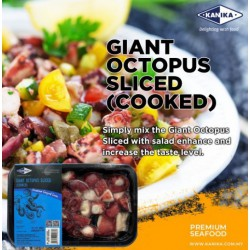 KANIKA COOKED & SLICED GIANT OCTOPUS (250G X 30TRAY)
