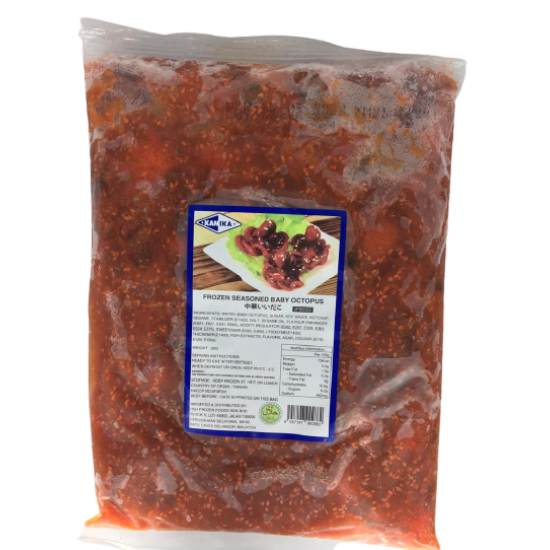 FROZEN SEASONED BABY OCTOPUS 40/60 [SBO-YBB] (2KG X 8PKT)